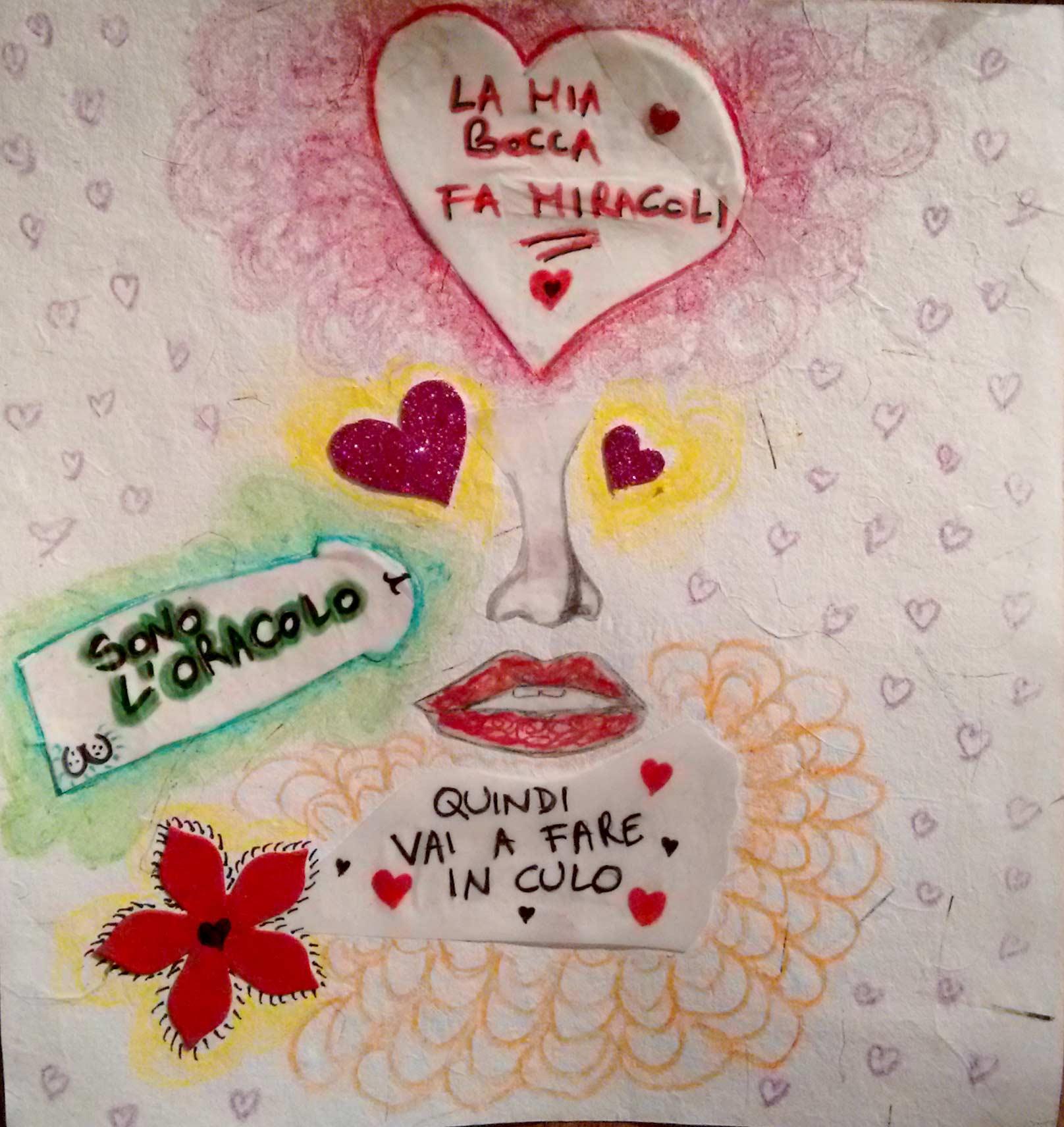 Nera Klean - collage on paper