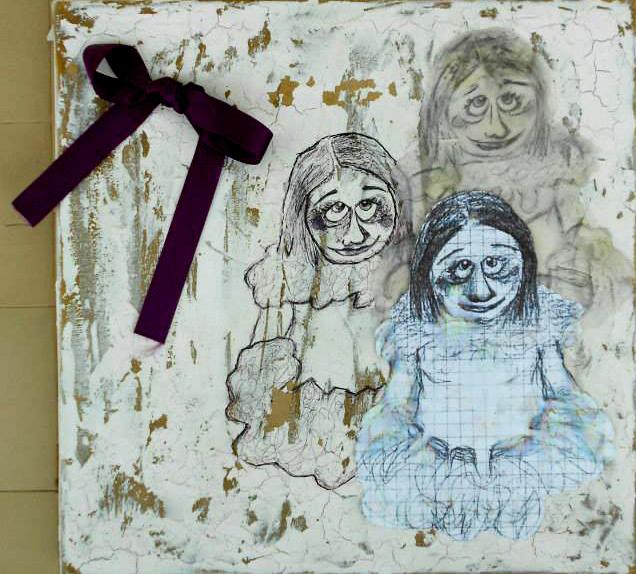 Nera Klean - mixed media on canvas